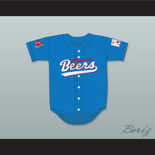 Joe Cooper 44 Milwaukee Beers Logo Deluxe BASEketball Blue Baseball Jersey