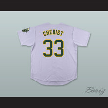 J 'Chemist' Canseco 33 Gray Button Down Baseball Jersey