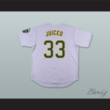 J 'Juiced' Canseco 33 Gray Button Down Baseball Jersey