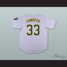 J Canseco 33 Gray Button Down Baseball Jersey