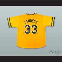J Canseco 33 Gold Pullover Baseball Jersey