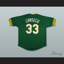 J Canseco 33 Dark Green Pullover Baseball Jersey