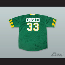 J Canseco 33 Green Pullover Baseball Jersey