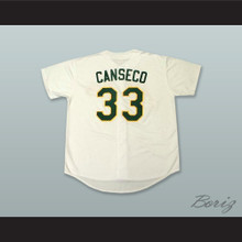 J Canseco 33 Home Button Down Baseball Jersey