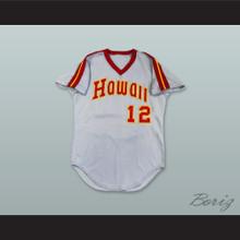 Hawaii Islanders 12 Gray Pullover Baseball Jersey