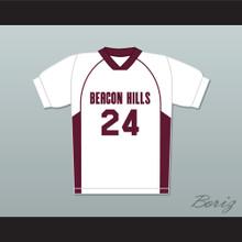 Stiles Stilinski 24 Beacon Hills Cyclones Lacrosse Jersey Teen Wolf White Style