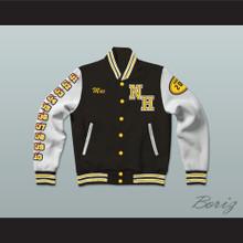 Snoop Dogg N. Hale High School Black Deluxe Varsity Letterman Jacket-Style Sweatshirt