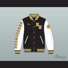 Mac Johnson N. Hale High School Black Deluxe Varsity Letterman Jacket-Style Sweatshirt