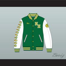 Mac Johnson N. Hale High School Green Deluxe Varsity Letterman Jacket-Style Sweatshirt