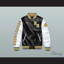 Mac Johnson N. Hale High School Black Deluxe Varsity Letterman Satin Bomber Jacket
