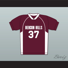 Jackson Whittemore 37 Beacon Hills Cyclones Lacrosse Jersey Teen Wolf Maroon Style