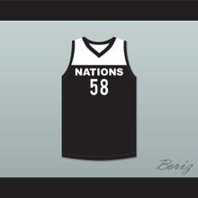 Tyler Herro 58 Nations Black Basketball Jersey