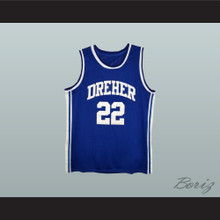 Alex English 22 Dreher High School Blue Devils Basketball Jersey