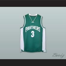 Anthony Davis 3 Panthers Elementary School Green Basketball Jersey