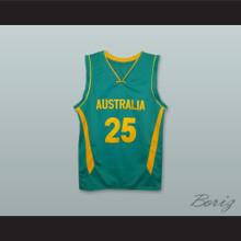 Ben Simmons 25 Australia National Team Green Basketball Jersey