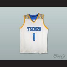 Mikey Williams 1 San Ysidro High School Cougars White Basketball Jersey