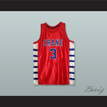Will Bynum 3 Crane High School Cougars Red Basketball Jersey