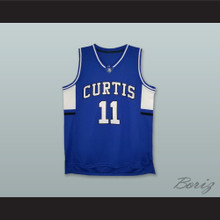 Isaiah Thomas 11 Curtis Senior High School Vikings Blue Basketball Jersey
