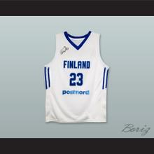 Lauri Markkanen 23 Finland National Team White Basketball Jersey