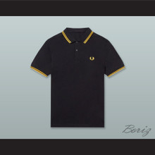 Proud Boys Black and Yellow Gold Polo Shirt