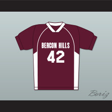 Scott Howard 42 Beacon Hills Cyclones Lacrosse Jersey Teen Wolf MaroonStyle