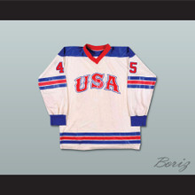 Donald Trump 45 USA Retro Style White Hockey Jersey