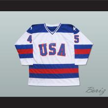 Donald Trump 45 USA 1980 Style White Hockey Jersey