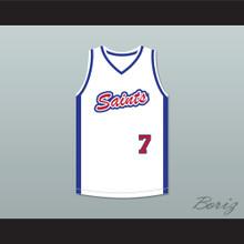 Los Santos Saints 7 White Basketball Jersey