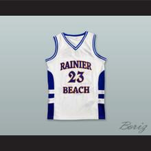 Jamal Crawford 23 Rainier Beach High School Vikings White Basketball Jersey