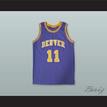 Larry Brown 11 Denver Rockets Purple Basketball Jersey