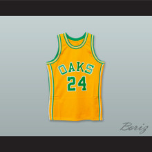 Rick Barry 24 Oakland Oaks Yellow Basketball Jersey