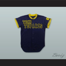 Araki 14 Toki Toparzs GIFU Navy Blue Button Down Baseball Jersey