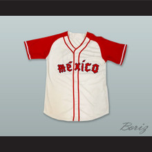 Ciudad de Mexico 23 White Button Down Baseball Jersey