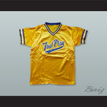 Foul Play Yellow Gold Pullover Baseball Jersey