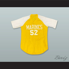 Marines 52 Yellow Pullover Baseball Jersey
