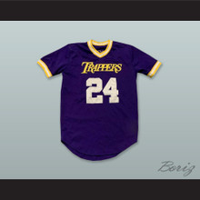 Mover 24 Trappers Purple Pullover Baseball Jersey