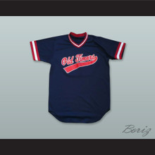 Old Timers 30 Navy Blue Pullover Baseball Jersey