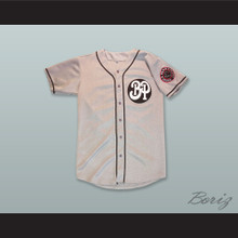 Fort Worth Black Panthers 29 Gray Button Down Baseball Jersey
