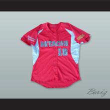 Hitachi 16 Kanagawa Japan Red Button Down Baseball Jersey