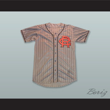 Brooklyn Royal Giants 28 Gray Pinstriped Baseball Jersey