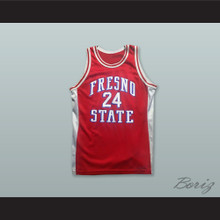 Fresno State 24 Red Basketball Jersey