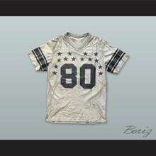 80 Stars Silver Gray Football Jersey