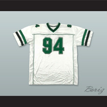 94 White Green and Black Football Jersey