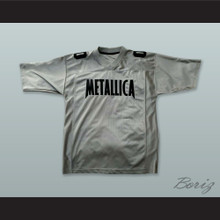 Metallica 00 Silver Gray Football Jersey