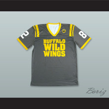 Buffalo Wild Wings 82 Gray Football Jersey
