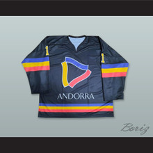 Andorra National Team 11 Black Hockey Jersey