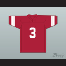 Barry Sanders 3 Wichita North High School Redskins Red Football Jersey 1