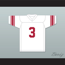 Barry Sanders 3 Wichita North High School Redskins White Football Jersey 1
