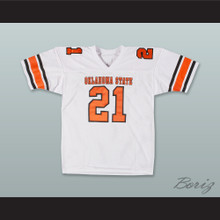 Barry Sanders 21 Oklahoma State Cowboys White Football Jersey