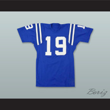 Johnny Unitas 19 Baltimore Colts Royal Blue Football Jersey